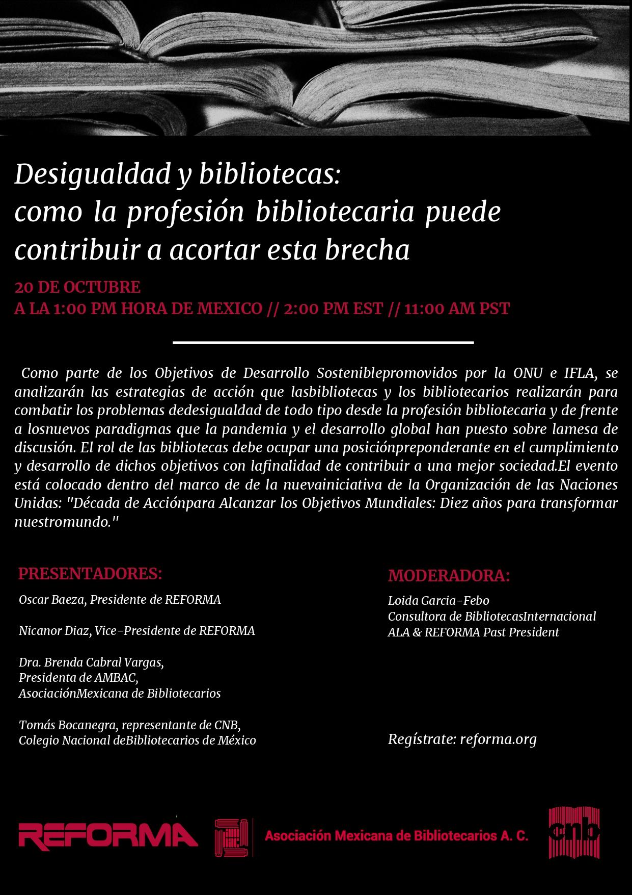 Programa Desigualdades y Bibliotecas